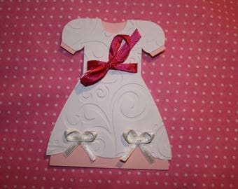 Custom share birth or baptism as a dress made entirely by hand
