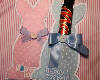 Small Pouch / Sheath for Easter rabbit felt entirely hand made