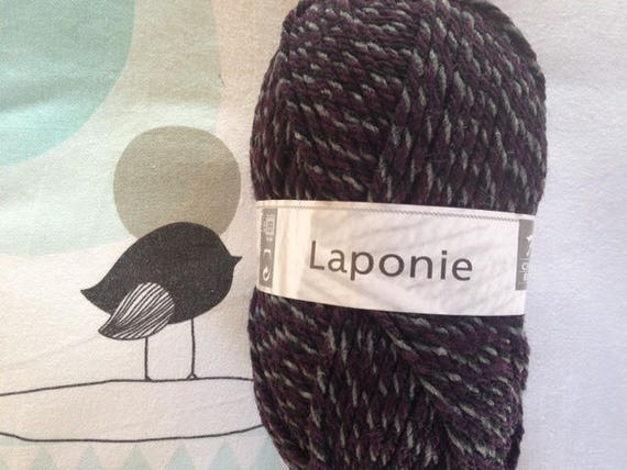 WOOL LAPLAND purple mix - white horse