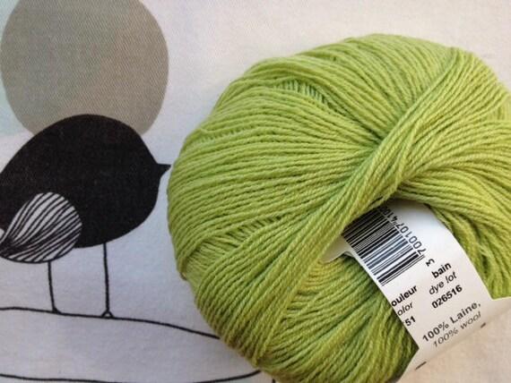 WOOL LACE Kiwi green - FONTY