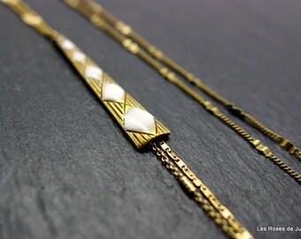 Necklace art deco diamond