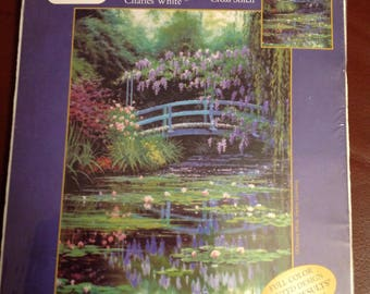 Candamar Monet's Japanese Bridge Picture cross stitch kit