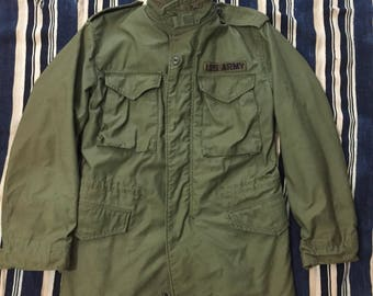 Vintage 1980 M-65 Field Jacket Mens Size Small/Medium US Army