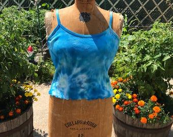 Tie Dye Blue Women's Tank Top