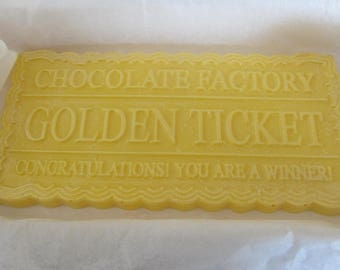 Golden ticket chocolate piece
