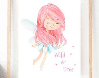 Fairy Printables, Nursery Prints, Fairy Gifts, Picture Prints, Art Print Fairy Picture, Nursery Art, Home Decor, Digital Download, Fairies