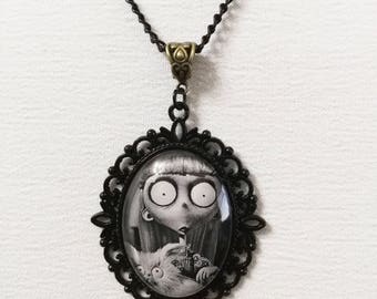 Frankenweenie weird girl necklace tim burton movie cammeo