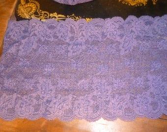 Beautiful purple stretch lace
