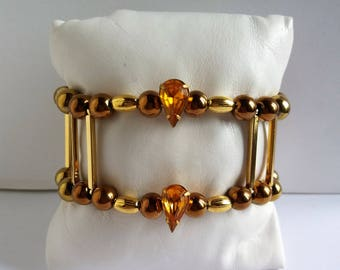 "Unique ""Space amber"" women bracelet, handmade"
