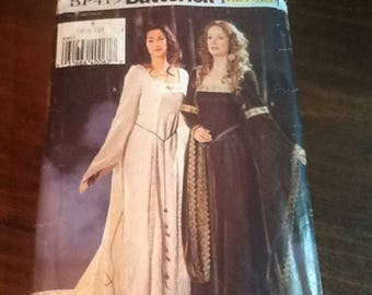 Uncut Pattern, Renascence Dresses, Butterick BP415, Making History, School Play, Halloween, Theater Costume, sizes 6,8, 10