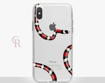 Snake Clear Phone Case Phone Case For iPhone 8 iPhone 8 Plus iPhone X Phone 7 Plus iPhone 6 iPhone 6S  iPhone SE Samsung S8 iPhone 5