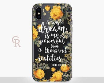 Tolkien Clear Phone Case Phone Case For iPhone 8 iPhone 8 Plus iPhone X Phone 7 Plus iPhone 6 iPhone 6S iPhone SE Samsung S8 Inspirational