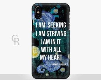 Van Gogh Phone Case For iPhone 8 iPhone 8 Plus - iPhone X - iPhone 7 Plus - iPhone 6 - iPhone 6S - iPhone SE Samsung S8 Quote Inspirational