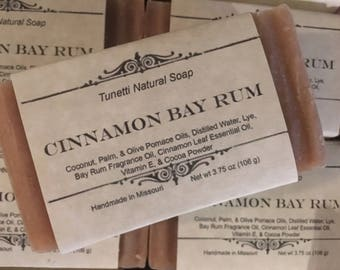 Cinnamon Bay Rum Natural Homemade Soap, Handmade soap, Natural Soap, Cold Process Soap