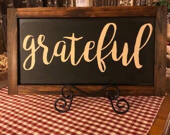 Grateful wood frame