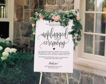 Unplugged Wedding Sign, Unplugged Ceremony Sign, Unplugged Wedding, Unplugged Sign, Wedding Unplugged, PDF Instant Download #BPB203_35