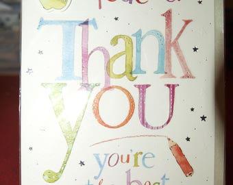 Teacher Thank You  You're the Best Card