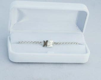 Baby Noah baby/toddler in 925 sterling silver curb chain. Gastyne workshop