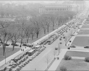 Poster, Many Sizes Available; Aerial View Of A Traffic Jam, 14Th Street And The Mall, Washington, D.C, 04 1937 Nara 513342