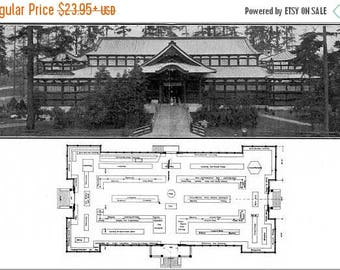 20% Off Sale - Poster, Many Sizes Available; Japan Exhibits Building Alaska Yukon Pacific Exposition, Seattle 1909 Page 12 13 Floorplan