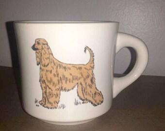 Vintage Afghan Hound Coffee Mug,Dog Mug,Dog Cup,DOG Lover,Afghan Hound Dog,Afghan Planter,Coffee Mug,Vintage Mug,Afghan Hound