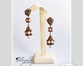 Earrings Karamelki - pattern in PDF (Russian language)