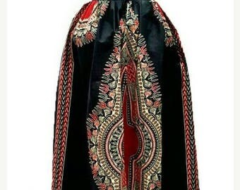 ON SALES Black dashiki Maxi Skirt, African clothing , Ankara Maxi skirt