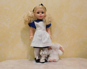 Alice in Wonderland Costume for 18 inch dolls