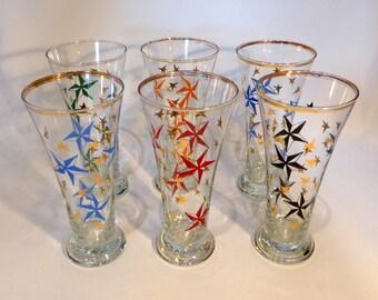 Set of 6 Atomic hi-ball/dessert glasses – original from the 1960s
