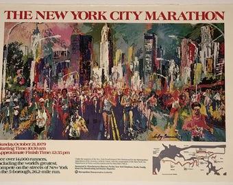 "Leroy Neiman Signed Poster ""New York City Marathon"" Original 1979"
