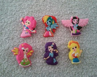 Lot 6 jibbitz My little pony (badges for fangs)