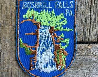 Bushkill Falls, Pennsylvania Vintage Souvenir Travel Patch from Voyager - LAST ONE!