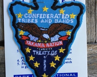 Confederated Tribes and Bands Vintage Souvenir Travel Patch by Park International
