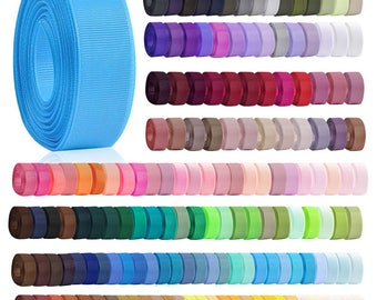 """10 Meters 3/4"""" 20mm Width Grosgrain Ribbon Double-Sided Polyester Wedding Embellishment Gift Packing Craft Bows 160 Colors V-RN0028(141-160)"""