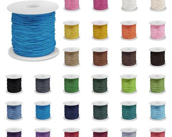 1 Roll 80M Waxed Cotton Cord 0.8/1/1.5/2mm Macrame String Linen Thread Wire Jewelry Making Beading Leathercraft, V-TC0116-TC0119