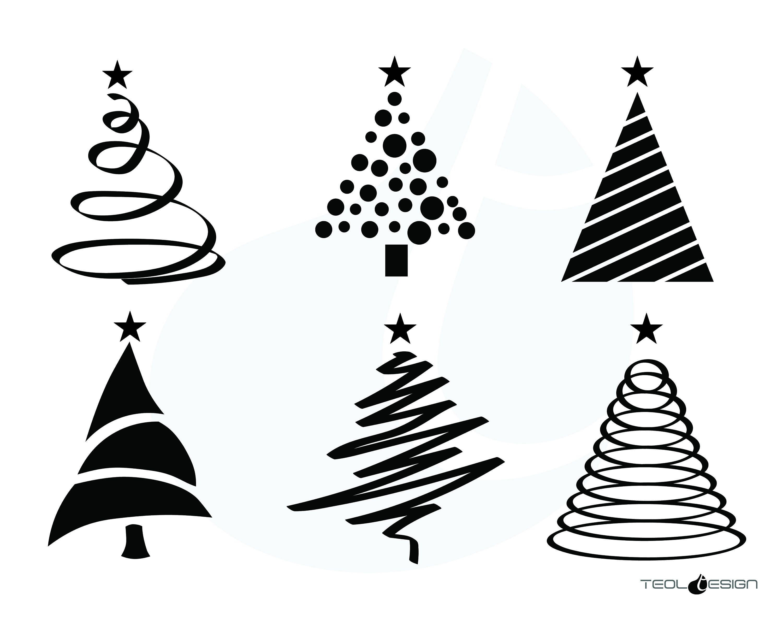 EPS SVG PNG Christmas Tree Xmas tree cut file Trees Christmas