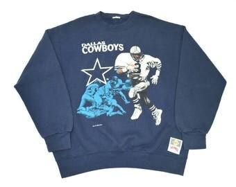1993 Dallas Cowboys (Troy Aikmen) Crew Neck Sweater