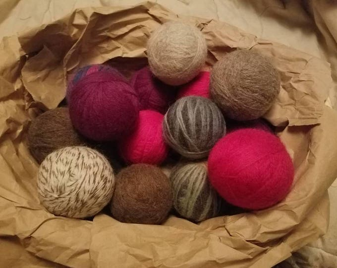 6 - 100% Wool Dryer Balls - Save Money, Time and Reduce Toxins in Your Laundry