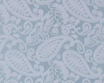 SCALAMANDRE ANGELIQUE PAISLEY Silk Damask Fabric 10 Yards Blue