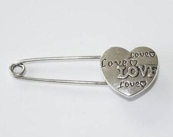 PIN metal inscription heart LOVE