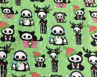 Skelanimals Christmas Quilting Fabric 2 Yards