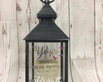 Memorial latern Wedding remembrance gift, remembering a loved one at a wedding, memorial lantern,