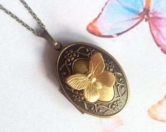 Necklace photo Locket Butterfly
