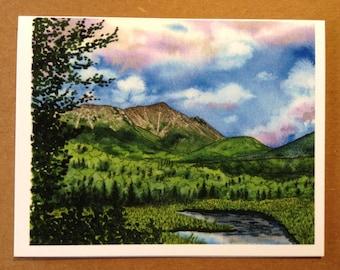 Appalachian Trail Greeting Card - Mount Katahdin Maine - Blank Fine Art Notecard