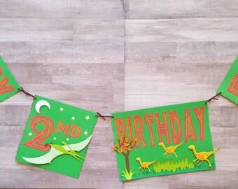Personalized Dinosaur Birthday Banner