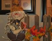 Scarecrow Door Greeter, Scarecrow Doll, Scarecrow And Crow, Fall Decor, Autumn Decoration, Shelf Sitter, Crow Patrol, FAAP~HAFAIR