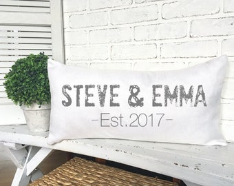 PERSONALIZED COUPLE PILLOW,Couple Throw Pillow,Anniversary Gift,Home Decorating,Couple Pillow,Wedding Pillow
