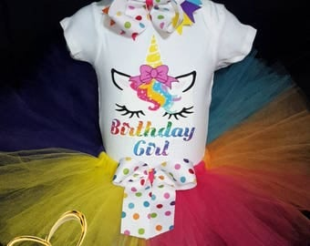 ON SALE Unicorn birthday girl Tutu, unicorn Tutu outfit,unicorn Tutu, unicorn Tutu dress, unicorn Tutu set, unicorn birthday outfit