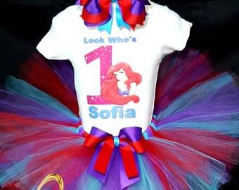 Little mermaid tutu, little mermaid tutu, ariel birthday tutu, ariel tutu, ariel tutu dress, little mermaid, ariel dress, ariel birthday