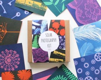 DIY Craft Kit, Make Your Own Prints, Solar Photography Kit, Craft Kits, Photography Gifts, Cyanotypes, Sun Prints, Light Sensitive Paper